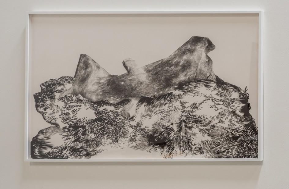 """<span class=""""artist""""><strong>Abdelkader Benchamma</strong></span>, <span class=""""title""""><em>Tas et Sculpture</em>, 2016</span>"""