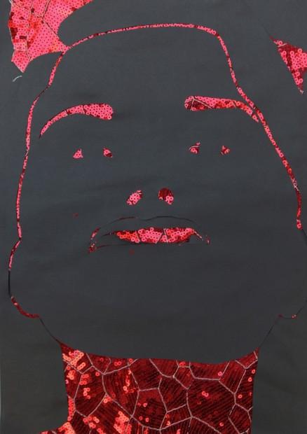 """<span class=""""artist""""><strong>Zoulikha Bouabdellah</strong></span>, <span class=""""title""""><em>Grimace 10</em>, 2012</span>"""