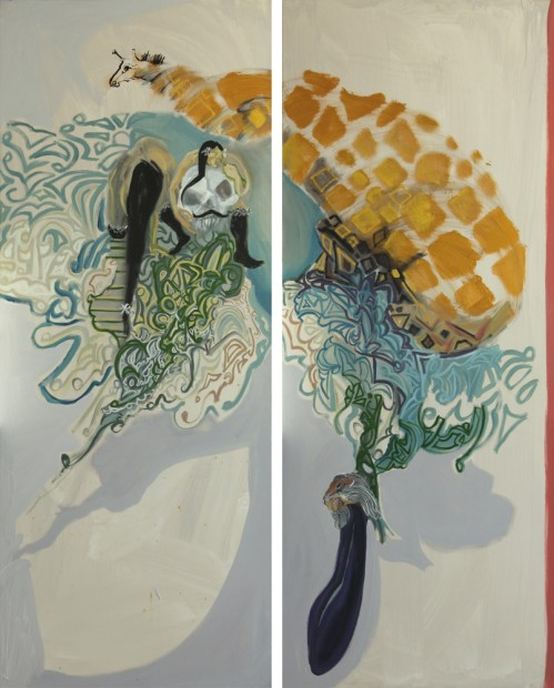 """<span class=""""artist""""><strong>Rokni Haerizadeh</strong></span>, <span class=""""title""""><em>The Camel, the Cow and the Leopard</em>, 2009</span>"""