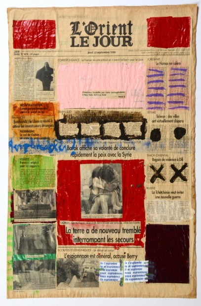 "<span class=""artist""><strong>Nada Sehnaoui</strong></span>, <span class=""title""><em>Peindre L'Orient Le Jour (23 September 1999)</em>, 1999</span>"