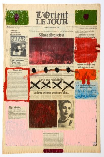 "<span class=""artist""><strong>Nada Sehnaoui</strong></span>, <span class=""title""><em>Peindre L'Orient Le Jour (21 September 1999)</em>, 1999</span>"
