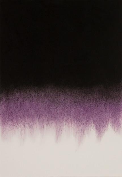 """<span class=""""artist""""><strong>Mohammed Kazem</strong></span>, <span class=""""title""""><em>Soundless Purple - No.1</em>, 2017</span>"""