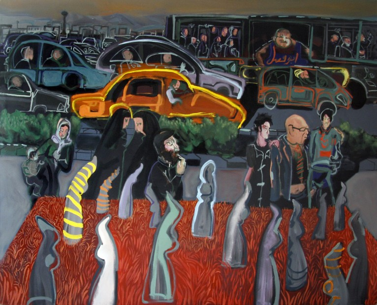 "<span class=""artist""><strong>Rokni Haerizadeh</strong></span>, <span class=""title""><em>Tuesday Afternoon - Pahlavi Street</em>, 2008</span>"