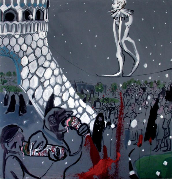 "<span class=""artist""><strong>Rokni Haerizadeh</strong></span>, <span class=""title""><em>The Anniversary of the Islamic Republic Revolution</em>, 2007</span>"