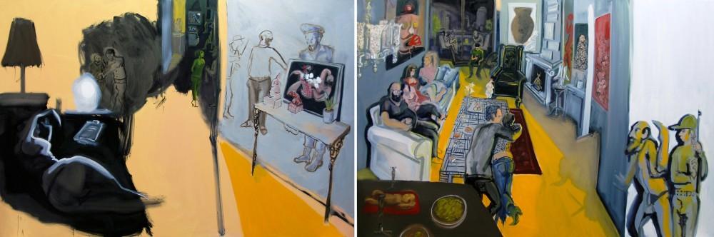 <span class=&#34;artist&#34;><strong>Rokni Haerizadeh</strong></span>, <span class=&#34;title&#34;><em>Police Raiding Through the Devil Worshipper's Apartment</em>, 2009</span>