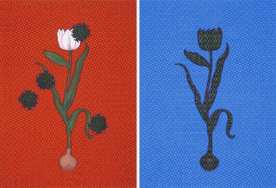 "<span class=""artist""><strong>Aisha Khalid</strong></span>, <span class=""title""><em>West Looks East</em>, 2013</span>"
