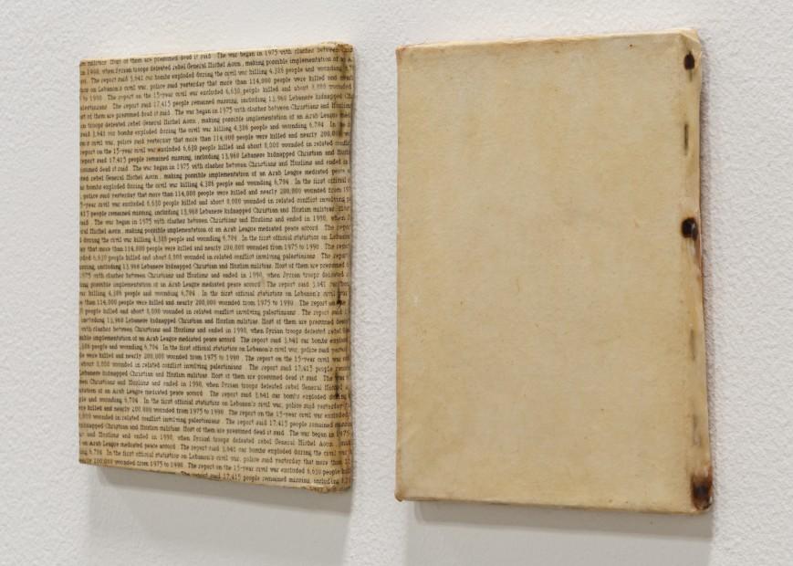 "<span class=""artist""><strong>Nada Sehnaoui</strong></span>, <span class=""title""><em>Lebanese War Statistics</em>, 1994</span>"