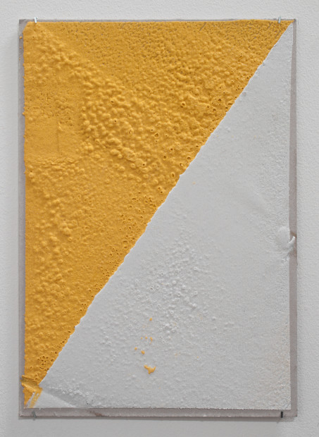 "<span class=""artist""><strong>Vikram Divecha</strong></span>, <span class=""title""><em>300 (W), 2 mm (T), Yellow, White, Random Mark, Hand Marking, Al Barsha South, Unnamed Street</em>, 2017</span>"