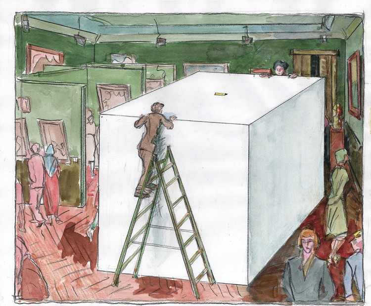 "<span class=""artist""><strong>Ilya & Emilia Kabakov</strong></span>, <span class=""title""><em>The White Cube</em>, 2005</span>"