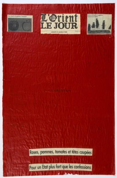 "<span class=""artist""><strong>Nada Sehnaoui</strong></span>, <span class=""title""><em>Peindre L'Orient Le Jour (23 October 1999)</em>, 1999</span>"