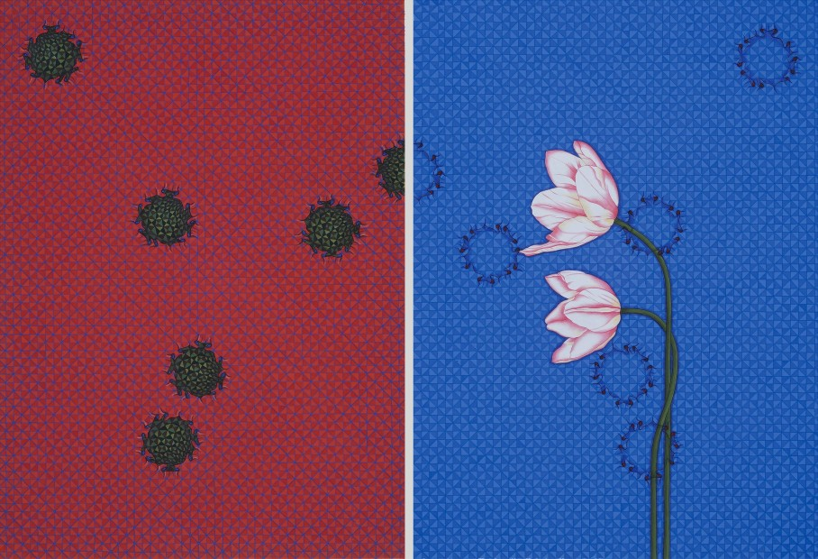 <span class=&#34;artist&#34;><strong>Aisha Khalid</strong></span>, <span class=&#34;title&#34;><em>West Looks East</em>, 2013</span>