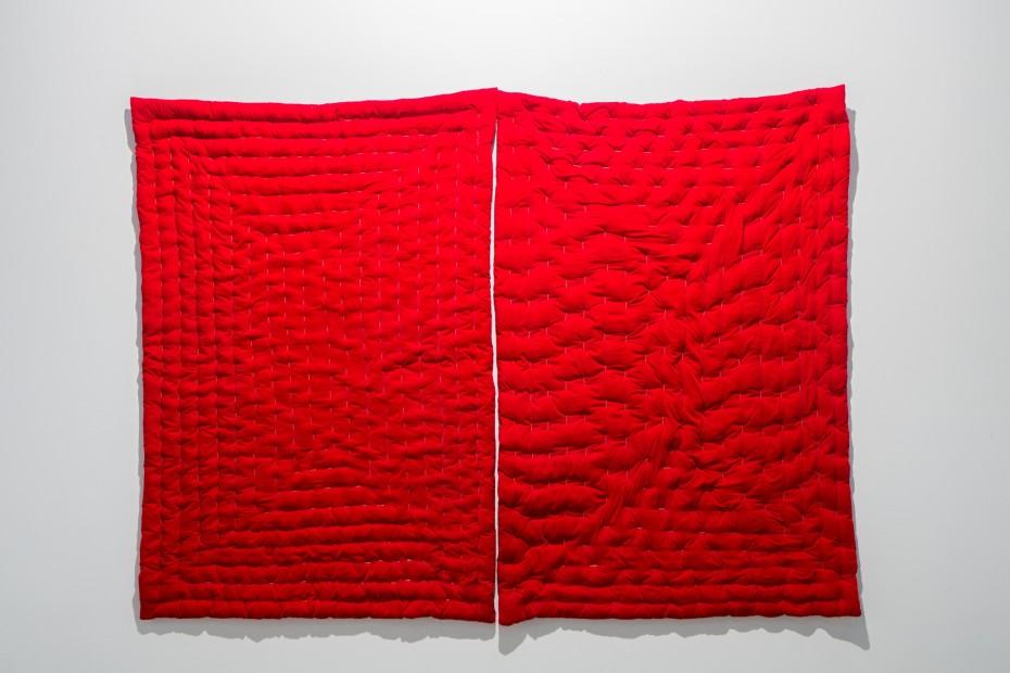 """<span class=""""artist""""><strong>Aisha Khalid</strong></span>, <span class=""""title""""><em>Comforter</em>, 2008</span>"""