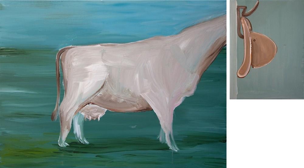 """<span class=""""artist""""><strong>Hesam Rahmanian</strong></span>, <span class=""""title""""><em>A Cow</em>, 2012</span>"""