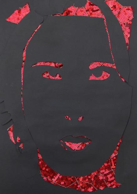 """<span class=""""artist""""><strong>Zoulikha Bouabdellah</strong></span>, <span class=""""title""""><em>Grimace 04</em>, 2012</span>"""