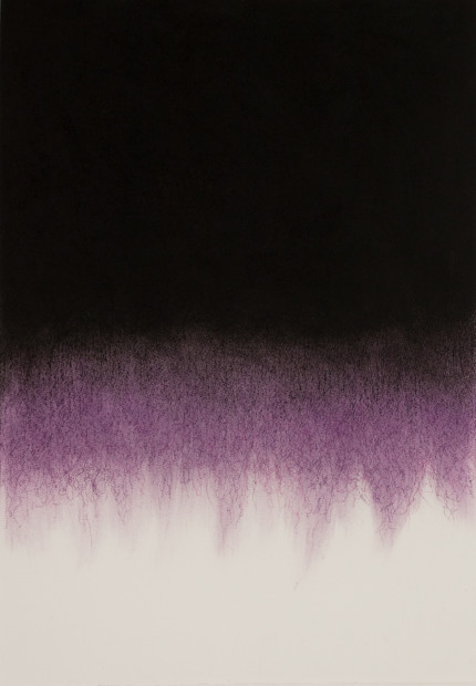 "<span class=""artist""><strong>Mohammed Kazem</strong></span>, <span class=""title""><em>Soundless Purple - No.1</em>, 2017</span>"