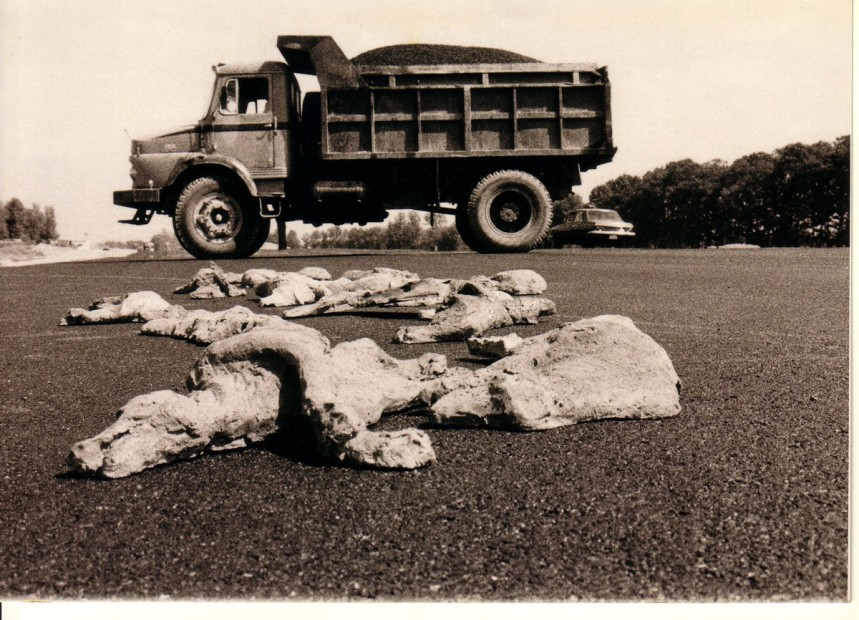 "<span class=""title"">Bita Fayyazi Road Kill 200 fire terracotta sculptures 65 x 30 x 13 cm each streets of Tehran Iran1997.jpg</span>"