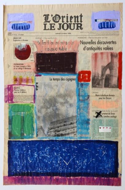 "<span class=""artist""><strong>Nada Sehnaoui</strong></span>, <span class=""title""><em>Peindre L'Orient Le Jour (20 March 1999)</em>, 1999</span>"