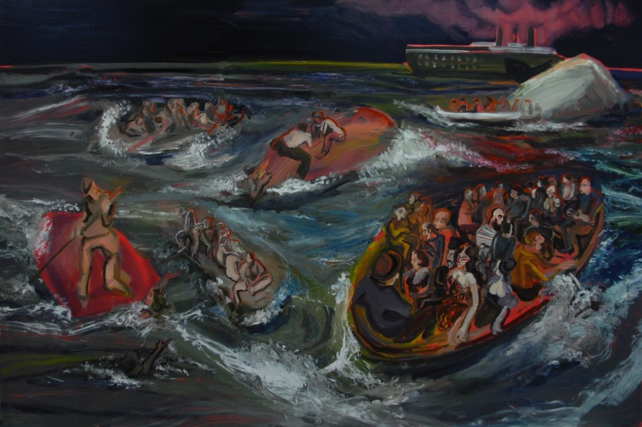 "<span class=""artist""><strong>Rokni Haerizadeh</strong></span>, <span class=""title""><em>Sinking of a Book by Omar Khayyam</em>, 2009</span>"