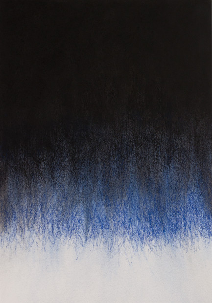 "<span class=""artist""><strong>Mohammed Kazem</strong></span>, <span class=""title""><em>Soundless Blue - No.2</em>, 2017</span>"