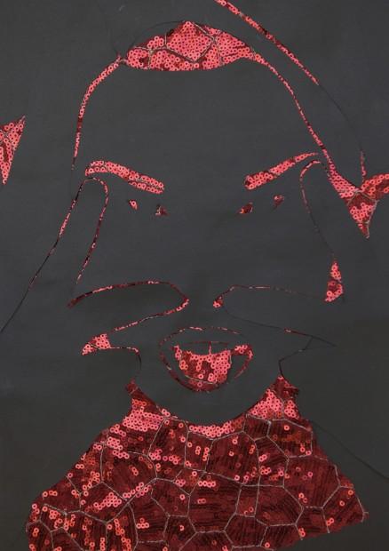 """<span class=""""artist""""><strong>Zoulikha Bouabdellah</strong></span>, <span class=""""title""""><em>Grimace 01</em>, 2012</span>"""