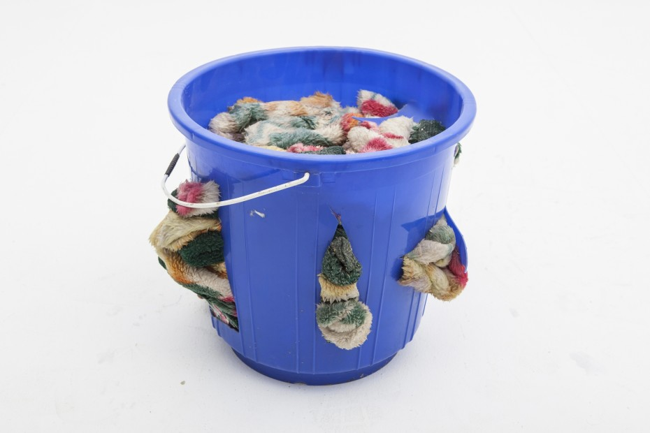 "<span class=""title"">Plastic Bucket and Blanket<span class=""title_comma"">, </span></span><span class=""year"">2005</span>"