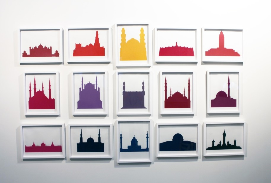 "<span class=""artist""><strong>Zoulikha Bouabdellah</strong></span>, <span class=""title""><em>Pop mosques</em>, 2012</span>"