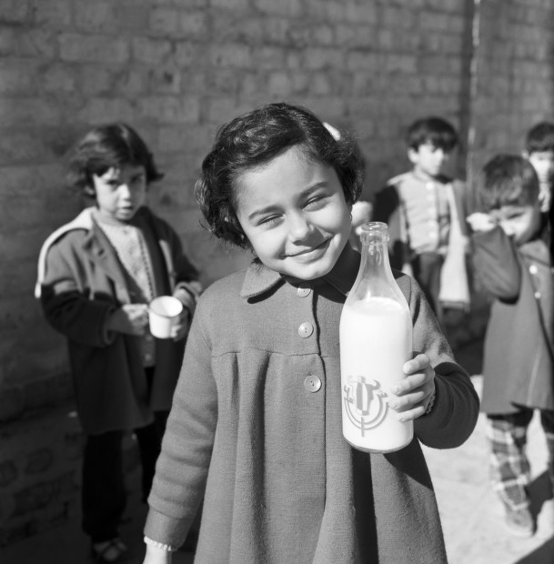 "<span class=""title"">School lunch, state primary school, Baghdad, 1961<span class=""title_comma"">, </span></span><span class=""year"">2019</span>"