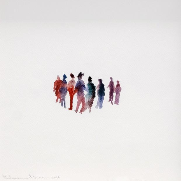 "<div class=""artist""><strong>Mohammed Kazem</strong></div><div class=""title""><em>Neighbours</em>, 2018</div><div class=""medium"">Watercolour on paper</div><div class=""dimensions"">25 x 25 cm</div>"