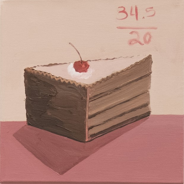 "<div class=""page"" title=""Page 2""><div class=""layoutArea""><div class=""column""><p><span>Piece of Cake</span><span>, 2018, Acrylic on canvas, 30 x 30 cm<br /> </span></p></div></div></div>"