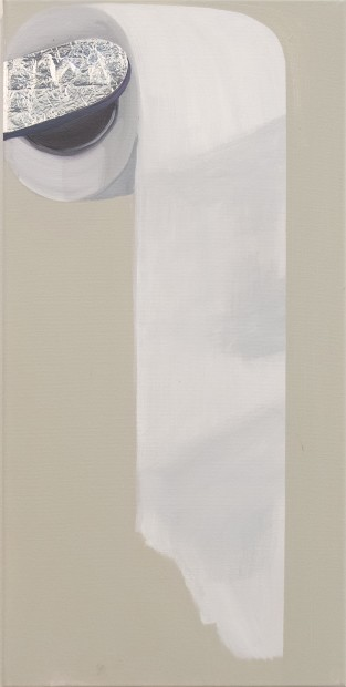 "<div class=""page"" title=""Page 2""><div class=""layoutArea""><div class=""column""><p><span>Toilet Paper</span><span>, 2015, Acrylic on canvas, 76 x 38 cm </span></p></div></div></div>"