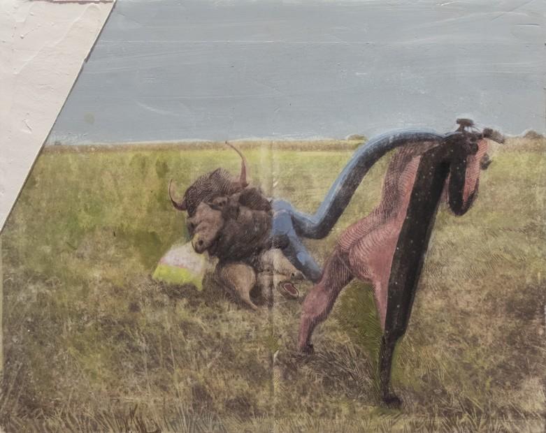 <div><em>Macht Schon</em>, 2015–19</div><div>photo-transfer, plaster, gesso, watercolour and varnish on a wooden board</div><div>45.6 x 57.5 cm</div><div>(C/SC 116)</div>