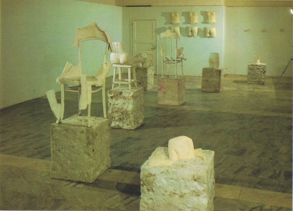 <p>The exhibition of works by P. Cox, A. Chizhova and S. Sokhranskaya titled The Traces on the Platform</p><p>General view</p>