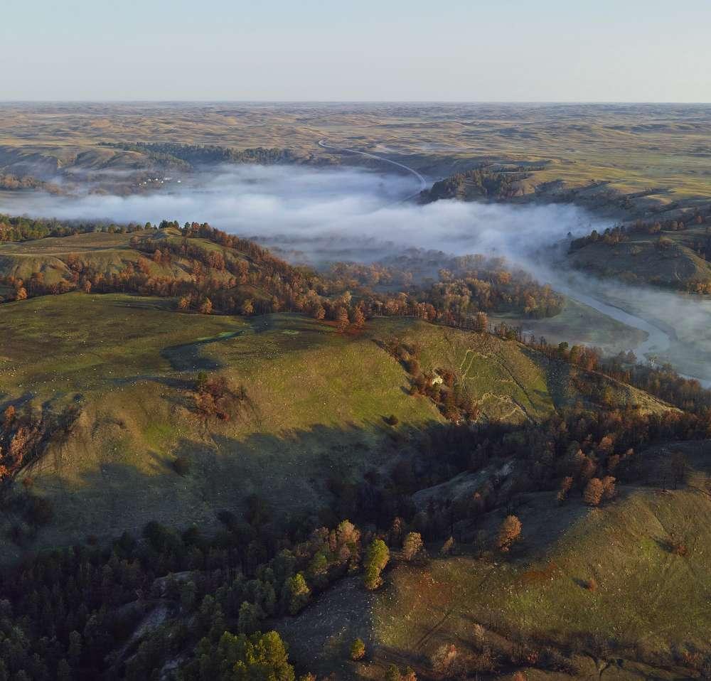 Andrew Moore, Fog on the Niobrara, Cherry County, Nebraska, 2011