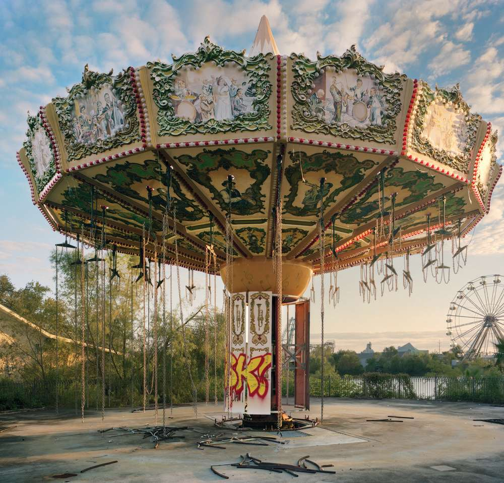 Andrew Moore, Zydeco Zinger, Abandoned Six Flags, New Orleans, Louisiana, 2014 - Artwork 27057