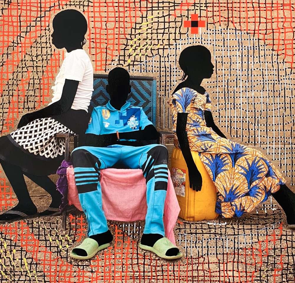 Saïdou Dicko - The Water Princess, T Feux d'Artifice Green / Red / Blue, Ouaga-Paris