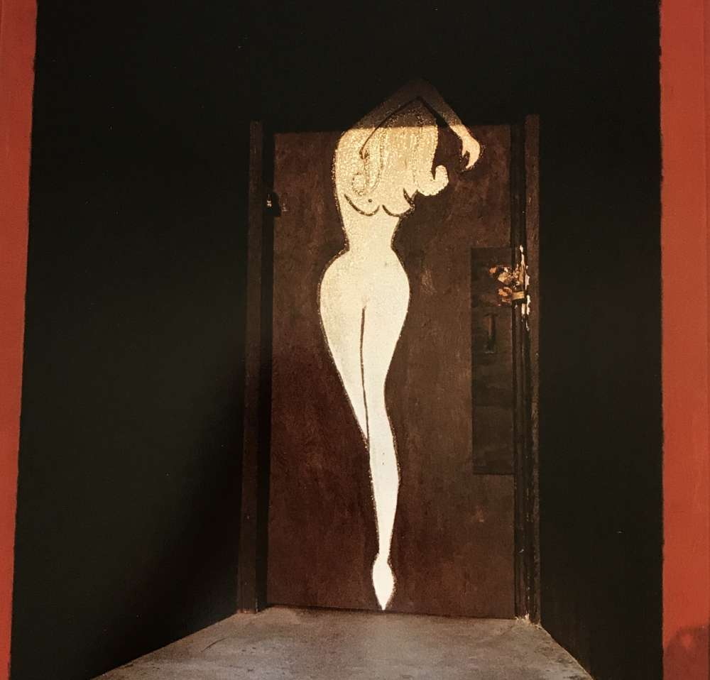 William Eggleston - Untitled (Woman's Nude Silhouette on Red Door)