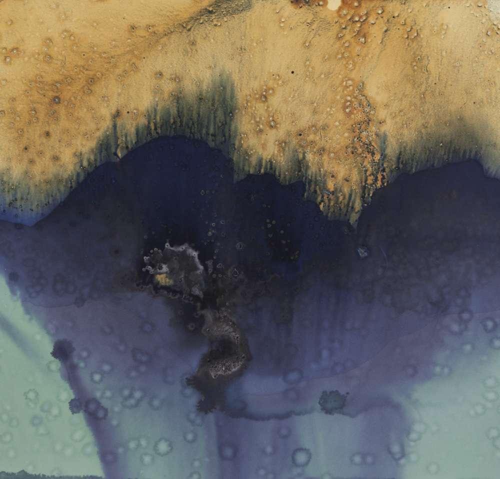 Meghann Riepenhoff - Littoral Drift #553 (Bainbridge Island, WA 06.02.17, Two Waves, Poured Over Rocks)