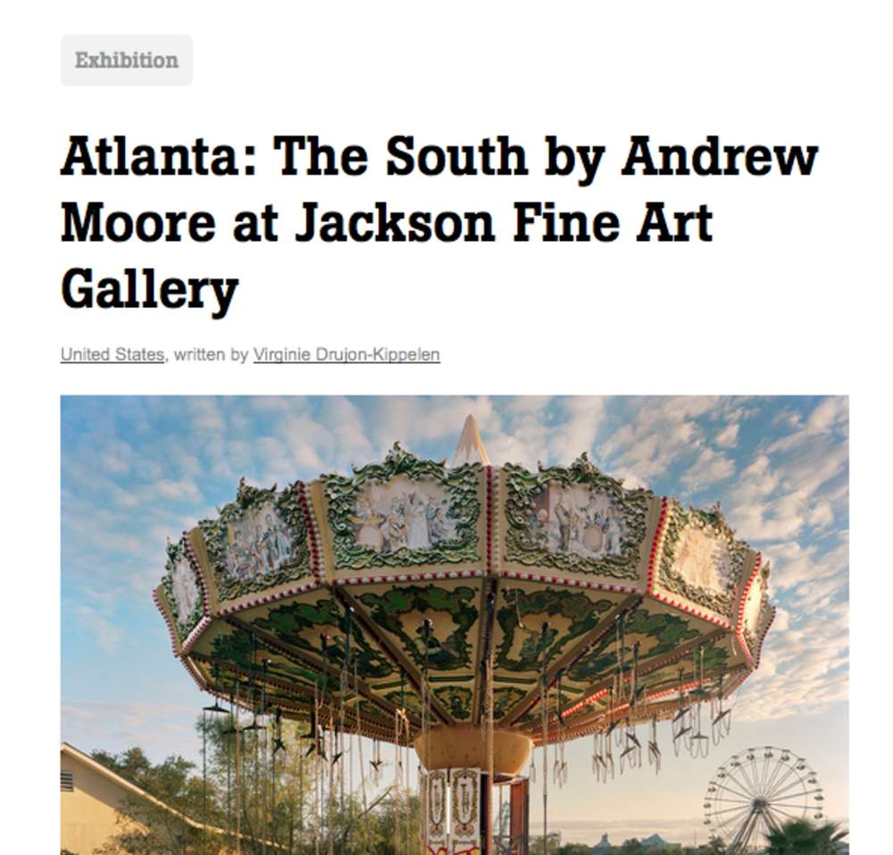 """L'Oeil Reviews Andrew Moore's """"The South"""" at JFA"""