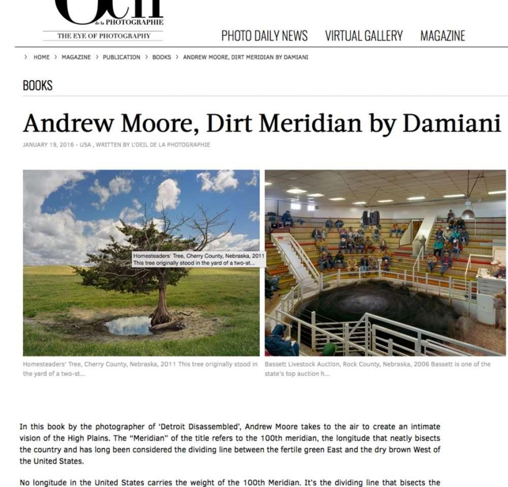Andrew Moore's Dirt Meridian in L'Oeil