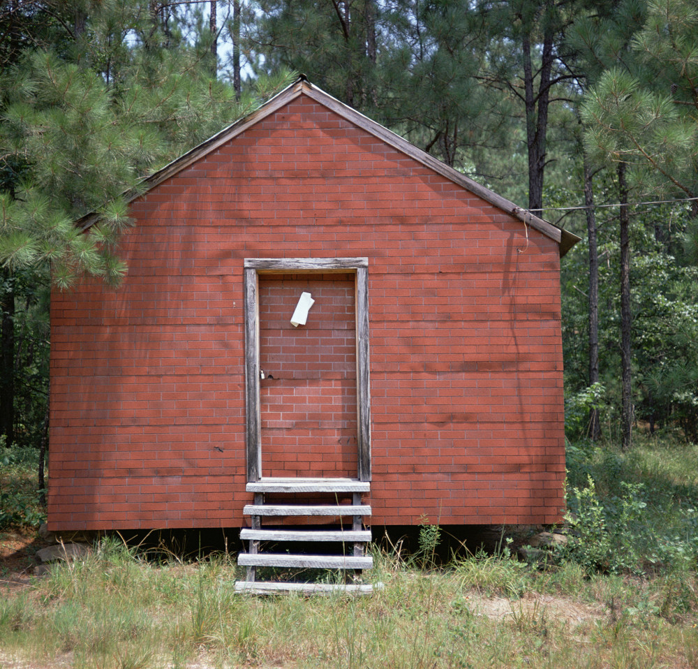 William Christenberry - Red Building in Forest, Hale County, Alabama
