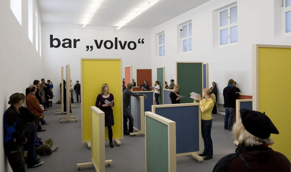 Mirrored Image: A Volvo Bar