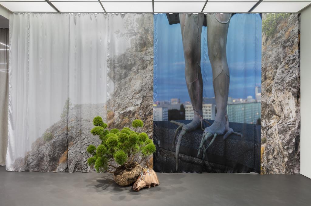 Isa Melsheimer, Curtain (Höhenweg), 2020