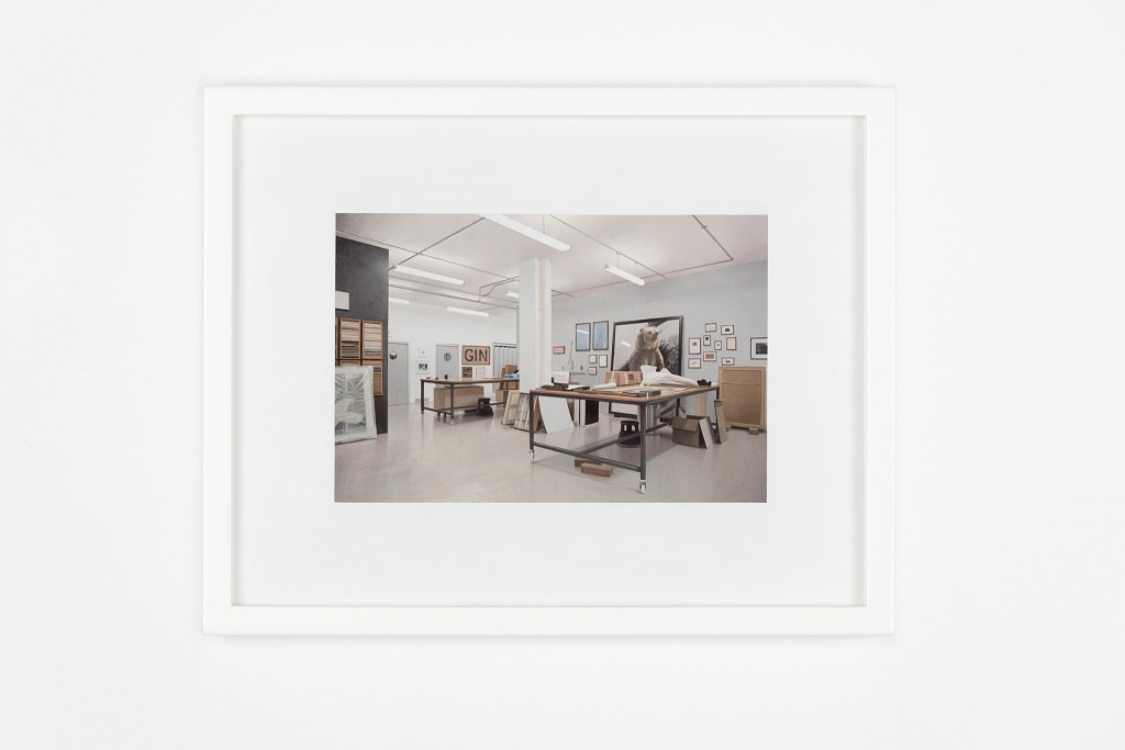 The Framing Of The Painting At Darbyshire Framemakers Featuring Work By Peter Liversidge