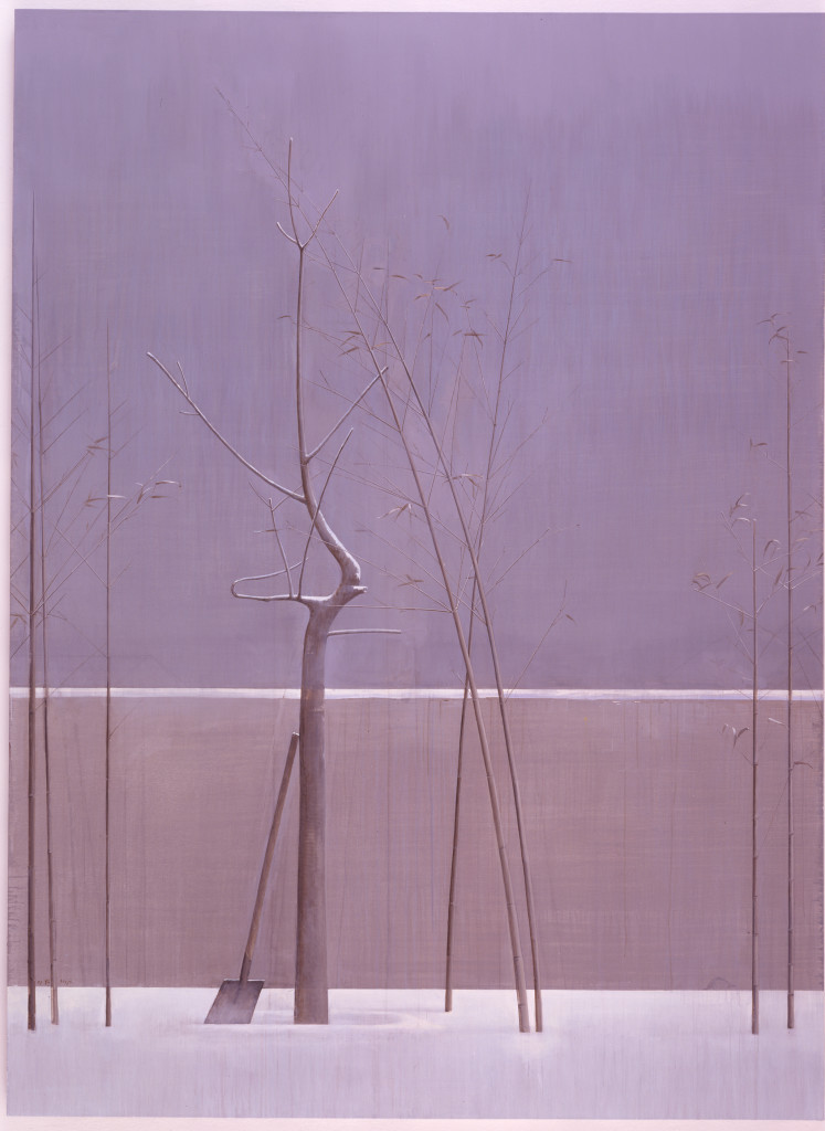 Composition with Tree and Bamboo