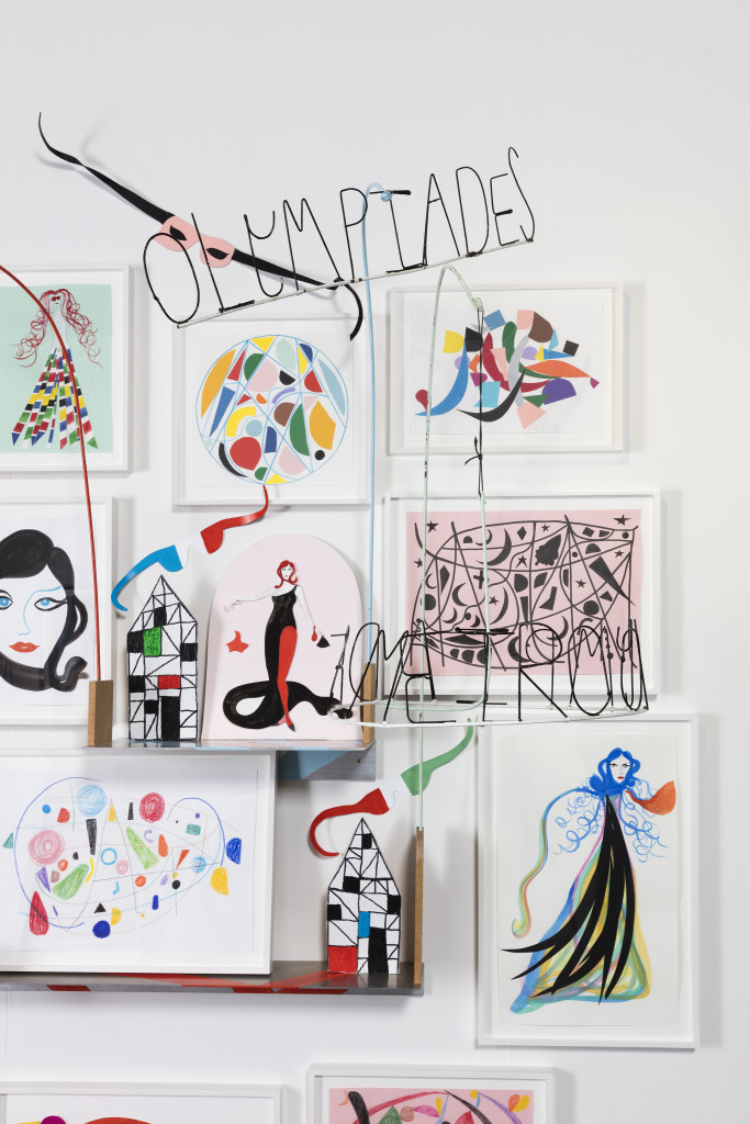 "She kept a collection of small drawings, sculptures and paintings on the wall opposite her bed. ""These were made for me"" she felt."