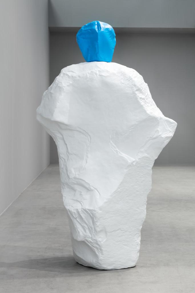 Ugo Rondinone, light blue white monk, 2020