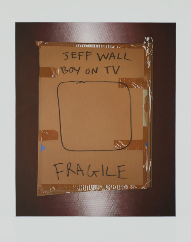 Package: Jeff Wall, 'Boy on TV'