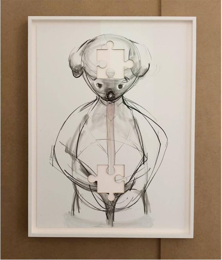 Simon Fujiwara, Who is Puzzled (Double Void), 2021