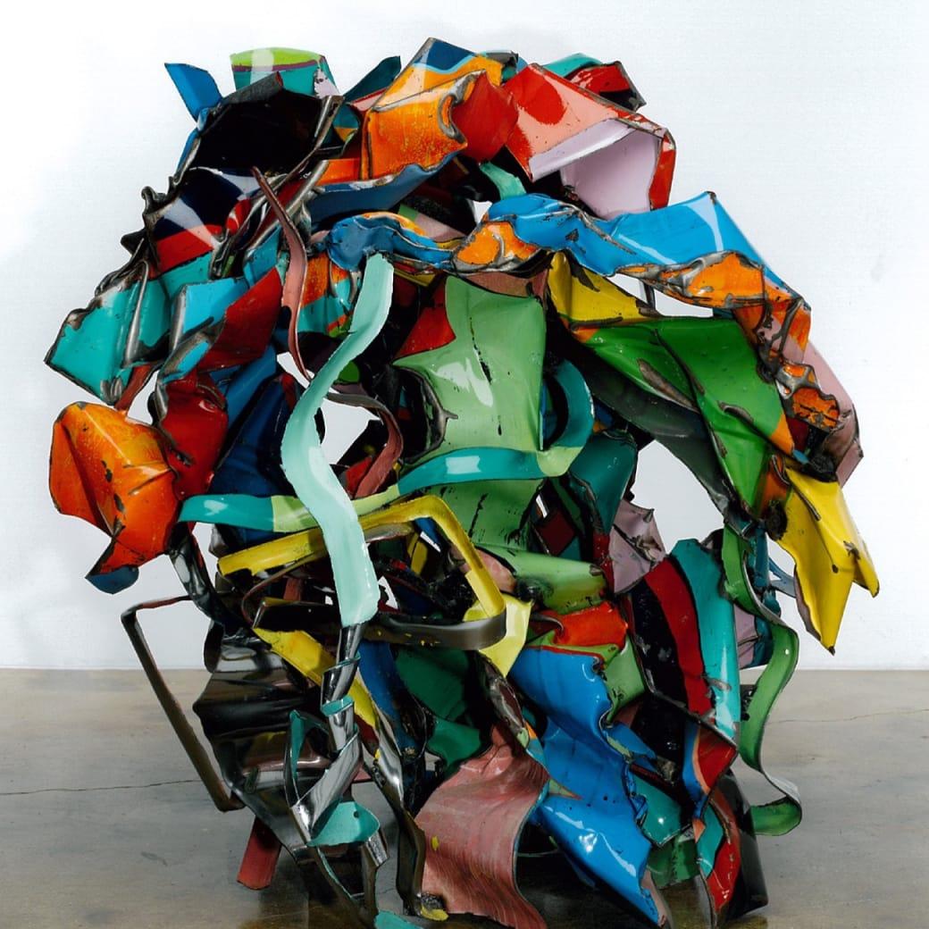 John Chamberlain, Suede Dog Peas, 2000
