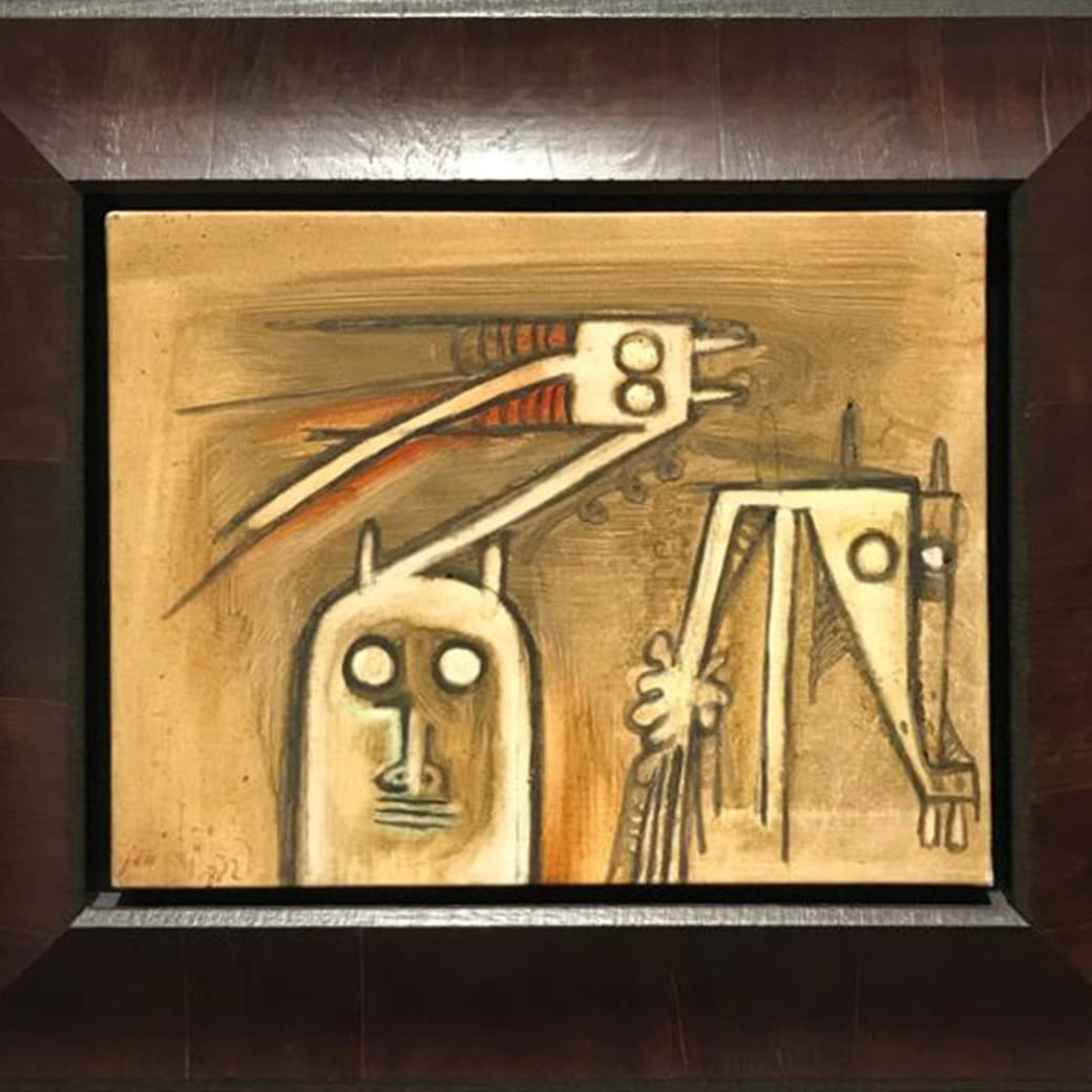 Wifredo Lam, Untitled, Painted in 1972